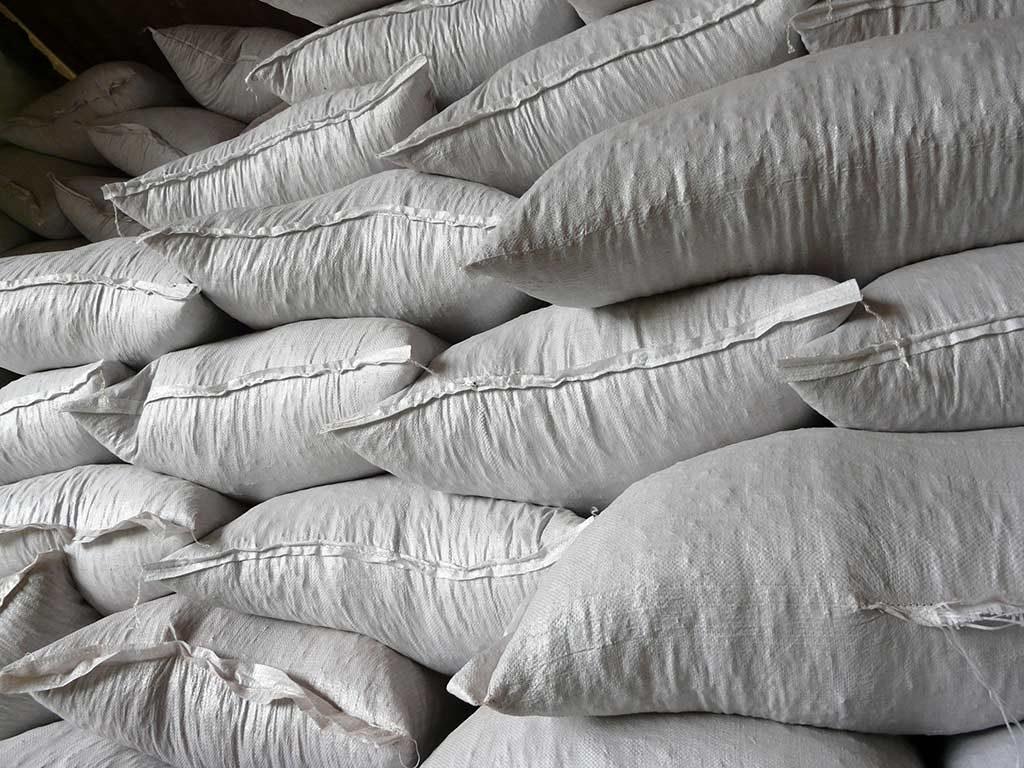 sacs de 20 kg de granulés de liège